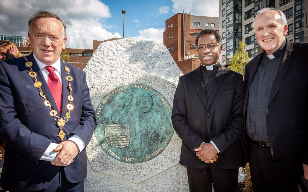 Memorial to Pope St John Paul II unveiled in Limerick